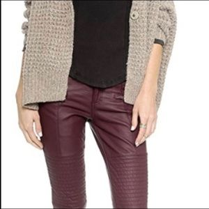 FREE PEOPLE Mulberry Faux Leather Skinny Pants